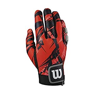 WILSON Clutch Racquetball Glove, Red/Black, Small