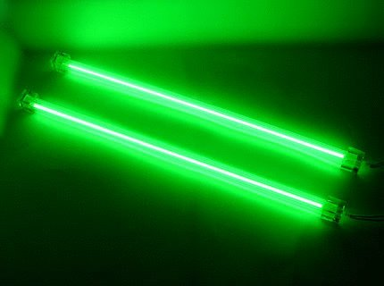 "Logisys 12"" Dual Cold Cathode Kit, 3.0mm Tube Diameter, 680V Output Voltage, Green"
