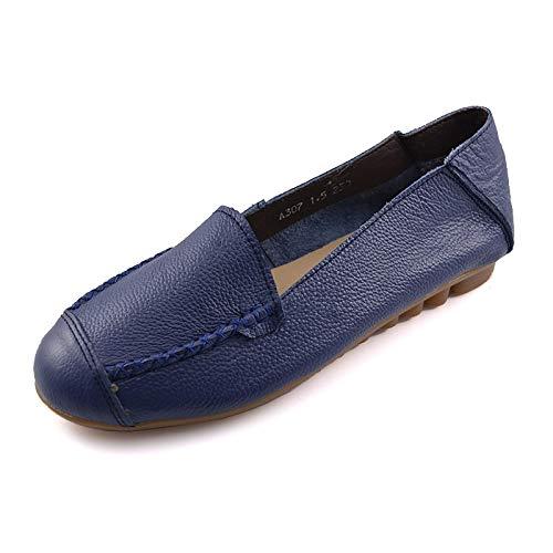 FLYRCX Zapatos Planos de Confort Casual de Cuero de Fondo Suave señoras Solo Zapatos Zapatos de Trabajo de Oficina Zapatos de Mujer Embarazada B