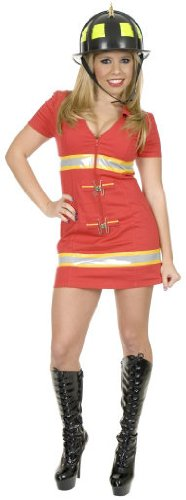 Charades Fire Fox Firefighter Costume As Shown - Medium