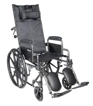 McKesson Reclining Wheelchair and Detachable Desk Arms - 18-Inch Seat Width, 300 lbs. Capacity - 1 Each / Each - ()