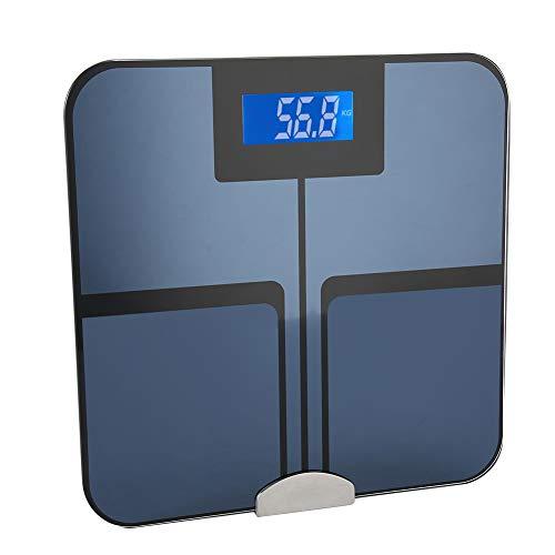 Báscula de grasa corporal bluetooth para Control del Peso, la grasa corporal, el agua corporal, la masa muscular, la masa...