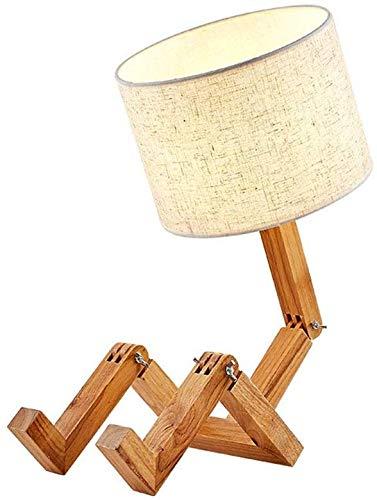 Escritorio Lámpara LED Mesa plegable de madera maciza de abeja ...