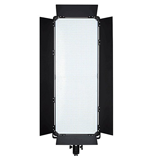 Idobol Slim D-3100II Bi Color High Power 3068 LED Photography Continuous Lighting Panel, 200W 20000 Lumen Photo Studio Video Film Light With Barndoors, DMX ()