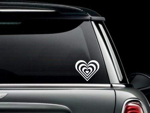 Yilooom Cascading Hearts Die Cut Vinyl Car Truck Window Decal Bumper Sticker