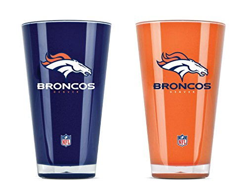 Denver Broncos Glass - NFL Denver Broncos 20oz Insulated Acrylic Tumbler Set of 2