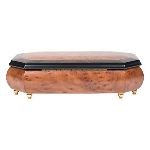 Two Wood Italian Hand Crafted Inlay Trunk Style Music Box Plays Magic Flute by Splendid Music Box Co. (Image #5)