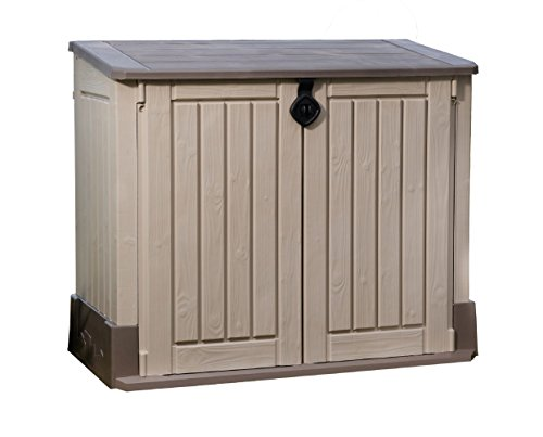Keter Store-It-Out MIDI 4.3 x 2.5 Outdoor Resin Horizontal Storage Shed (Outdoor Wood Storage Cabinet)