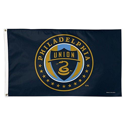 WinCraft Soccer Philadelphia Union 09681115 Deluxe Flag, 3' x 5'
