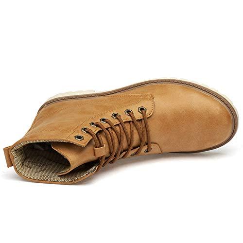 Size Size Escursione Maschile Scarpe Stivali YR Mens Mens del Stivaletti Alte Sneaker Yellow Cavaliere Stivali Unisex 35 Campeggio 47 Vintage R Large Donna Martin Pelle qpxA7H