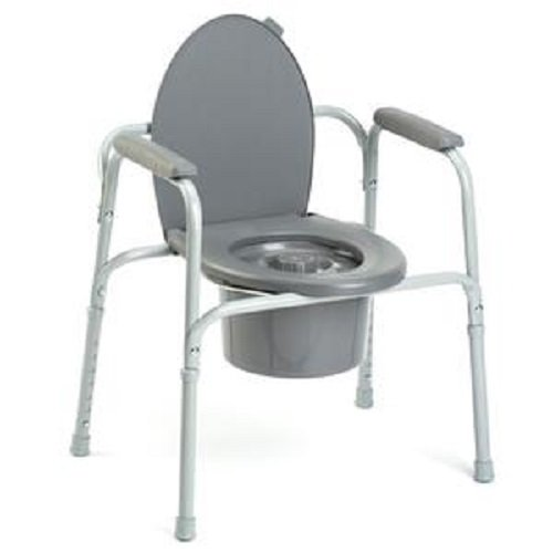 All In One Steel Commode (All-In-One Commode)