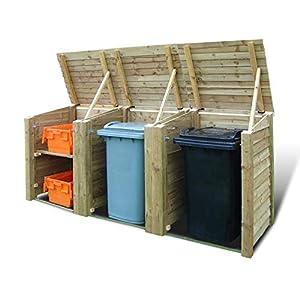 Rutland Wooden Outdoor Bin Storage Combo