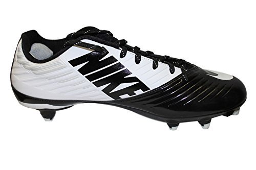 Nike Vapor Speed Low D Football Cleats Black/White Size 13