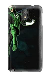 Special Skin Case Cover For Galaxy Note 3, Popular Green Lantern Phone Case