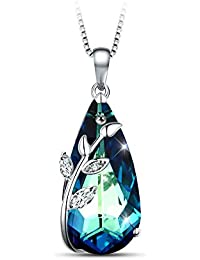 """Eternity Of Love Pendant Necklace Made with Swarovski Crystals Charming Jewelry for Wife, Girlfriend 18"""""""