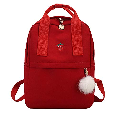 Amazon.com : Girl Hairball Canvas School Bag Student Backpack Satchel Travel Shoulder Bag : Office Products