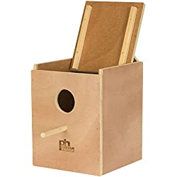 Prevue Pet Products BPV1103 Wood Inside Mount Nest Box for Parakeet