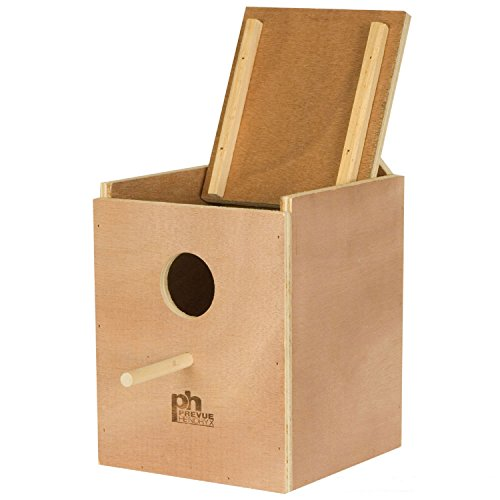 Prevue Pet Products BPV1103 Wood Inside Mount Nest Box for Parakeet by Prevue Pet Products
