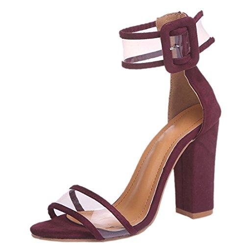 Z Voir Soirée Ouvert Sangles Rouge Bout À de Sandales de QIYUN Cheville Femmes Hauts pour Si Chaussures Chaussures Talons dpdnqC