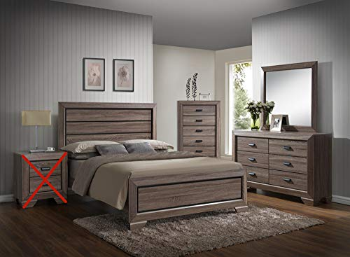 GTU Furniture Lyndon Pc Weathered Grey Panel Bedroom Set (Queen Bed, Dresser, Mirror and Chest) (Lyndon Furniture)