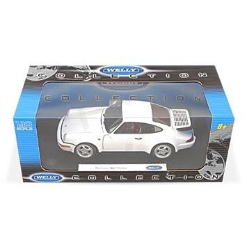 Porsche 911 turbo (964), blanco, Modelo de Auto, modello completo, Welly 1:18: Welly: Amazon.es: Juguetes y juegos