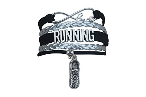 Running Gifts- Runner Bracelet, Running Jewelry, Adjustable Running Charm Bracelet- Perfect Cross Country, Track, Marathon - Womens Running Gifts