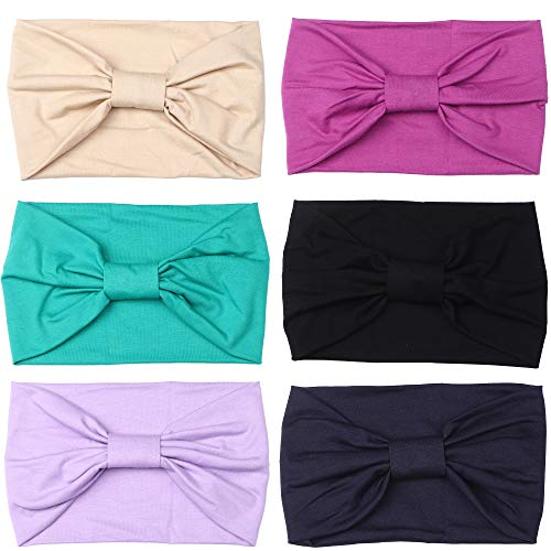 (LOLIAS Multi-Style Headband for Fitness Sports Running Workout Yoga Women's Hair Band Wide Stretchy (C:Purple&Taupe))