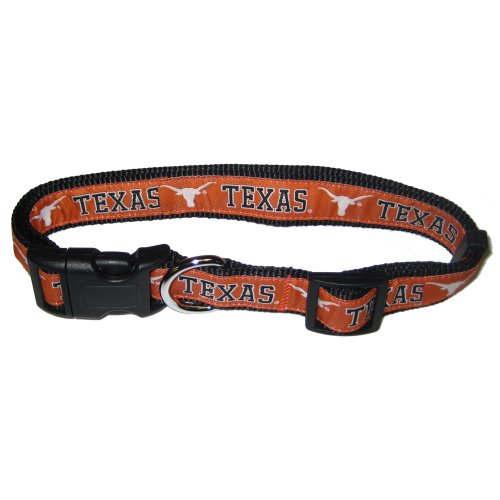 Mirage Pet Products Texas Longhorns Collar for Dogs and Cats, Large