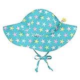 i play. Boys' Toddler Aqua Starfish Print Brim Hats with Toggle 2T-4T, 2T/4T