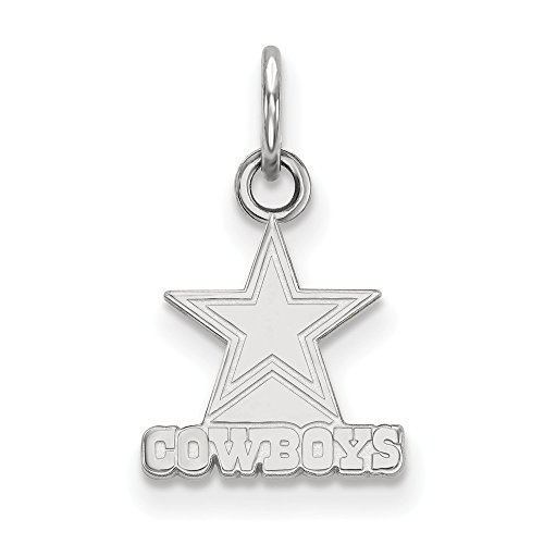Q Gold NFL Sterling Silver Dallas Cowboys XS Pendant