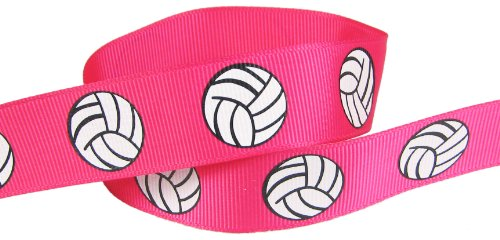 Volleyball Ribbon, Hot Pink-Hipgirl 5yd 7/8