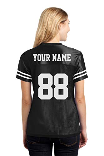 Custom Sports Jerseys for Ladies - Make Your OWN Jersey T Shirts & Team Uniforms Black