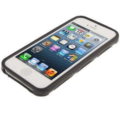 """iPhone 5 / 5S Hülle / Case aus Silikon in schwarz im """"Hexagon-Style"""" -Original nur von THESMARTGUARD-"""