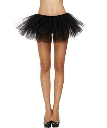Plumsika Women Sexy Organza Tutu Party Dance Skirt Ballerina Dress Petticoat (Women Ballerina Costume)