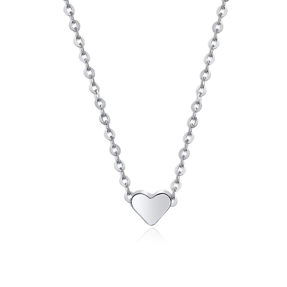 ba31c1e451 Love Heart Choker Necklace Collar Chain Alloy Dainty Everyday Simple Jewelry  (Silver): Amazon.ca: Jewelry