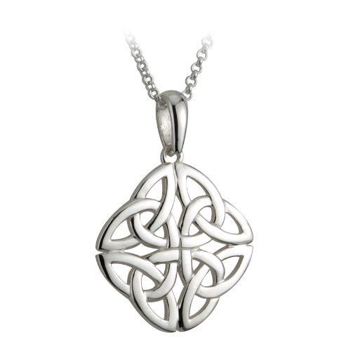 Celtic Knot Necklace Sterling Silver Irish ()