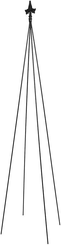 Achla Designs FT-21 Fleur-de-lis, 78-Inch Wrought Iron Garden Stake Trellis, H, Black