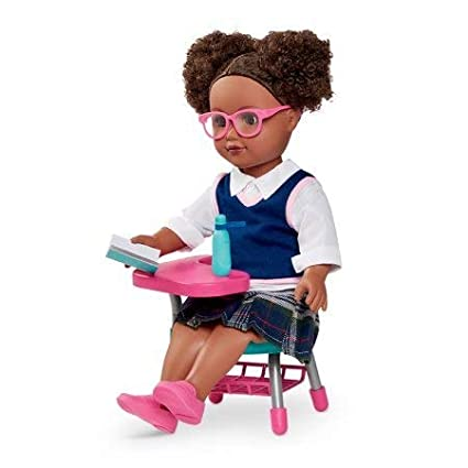 My Life As School Girl Doll Pink Glasses African American