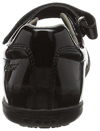 Geox J Gioia 2fit a, Bailarinas para Niñas Negro (Black)
