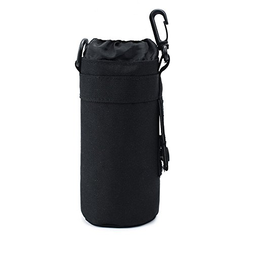 Tekool Water Bottle Sleeve Bag Bottle Holder Tactical Water Bottle Pouch (Black)