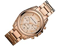 Michael Kors Watches Ladies Rose Gold Bl...