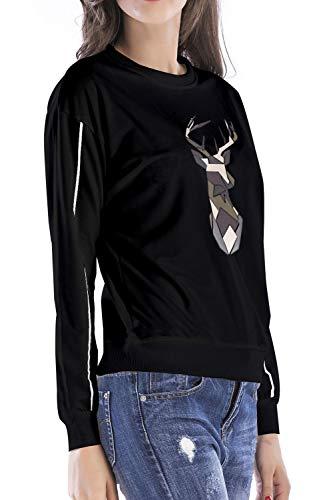 Jumojufol Natale Black Breve Le Di Sweatershirts Donne Maglione Sono Brutte HHwrq6