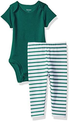 Flexy 2 Piece Set (Pant with Short Sleeve Bodysuit), Green Stripe 18-24 Months ()