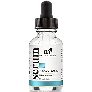 ArtNaturals Hyaluronic Acid Serum Best Anti Aging Skin Care Product for Face Clinical Strength With Vitamin C Serum, Vitamin E and Green Tea -Reduces Wrinkles for Youthful and Radiant Skin, 1 oz.