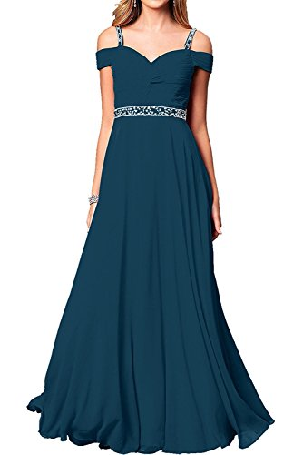 Brautmutterkleider Chiffon Braut Tanzenkleider La Damen Kleider Blau Tinte Marie Jugendweihe Langes Abendkleider ZwIqxY6x