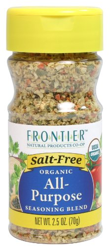 Frontier Salt Free Organic Seasoning, All Purpose, 2.5 Ounce