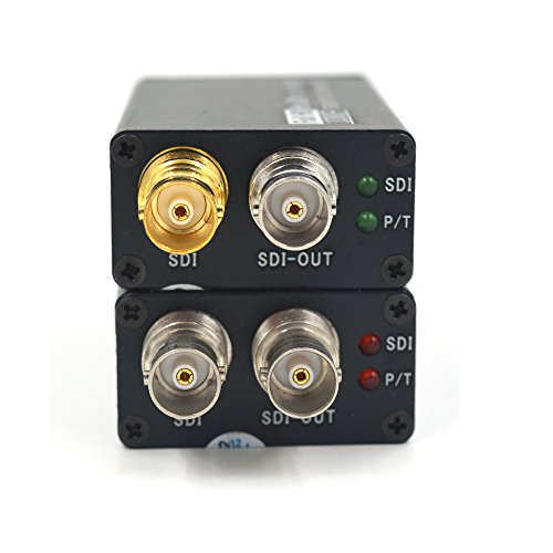 Guantai Mini HD SDI 1080P Video Fiber Optical Media Converters (Tx and Rx), LC Singlemode 1310/1550nm for HD SDI CCTV - Working Distance up 20Km ()