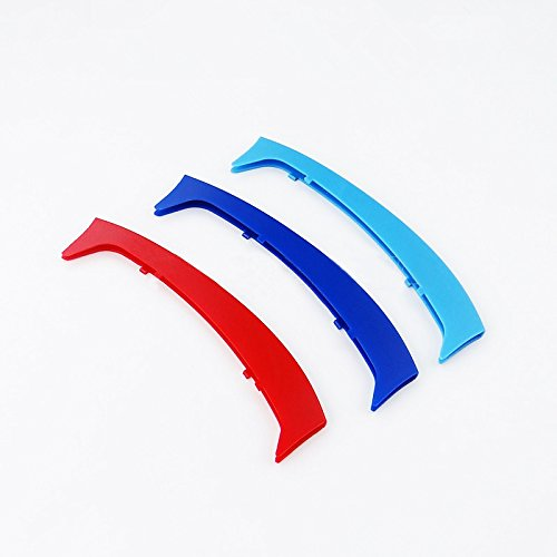 3 M Front Grille insert Trim Strips Grill Cover Decoration Sticker for 1998-2005 BMW E46 316 318 320 325 328 330 323 Sedan and Touring