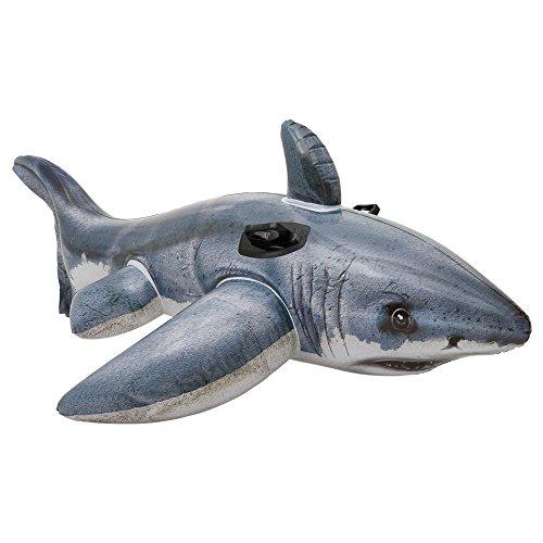 Intex Reittier Great White Shark Ride-On, Grau, 173 x 107 cm