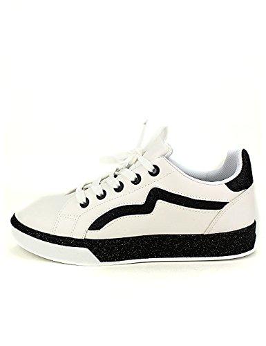 Cendriyon Basket Blanche BOKS Loo Chaussures Femme Blanc hBr7Bo